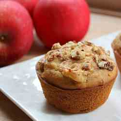 Apple Muffins with Candied Nuts