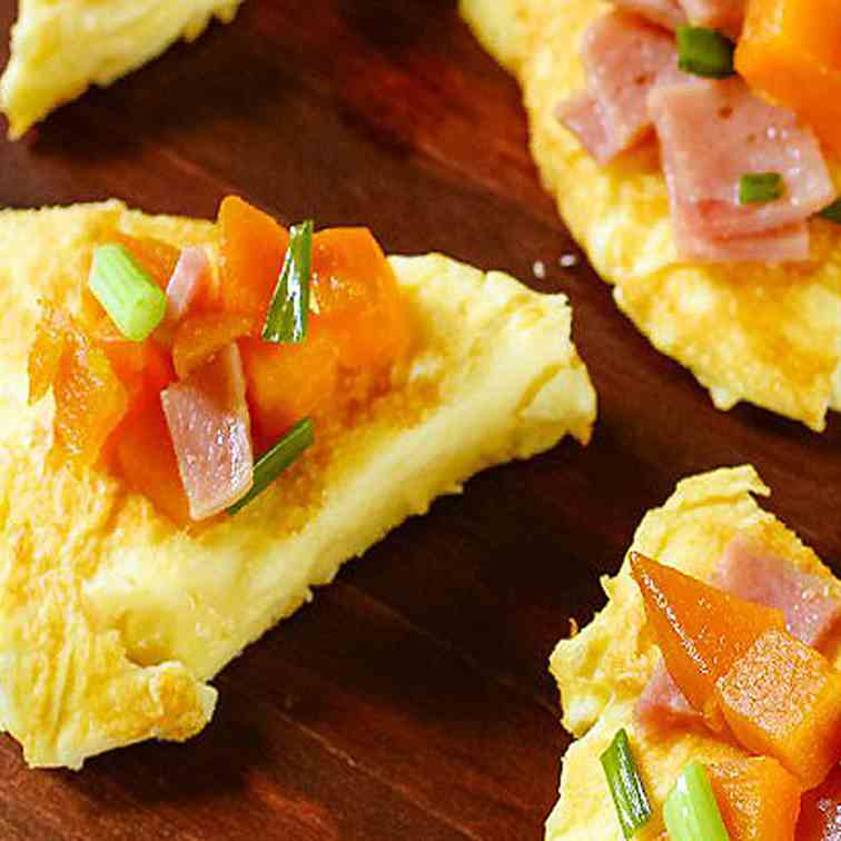 Sweet Potato Ham and Cheese Omelette
