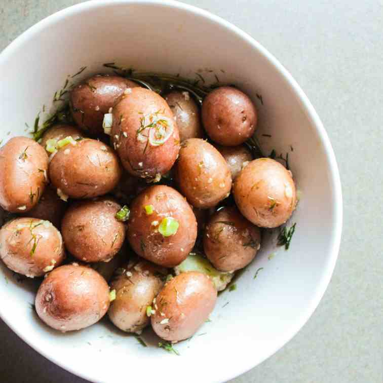 Baby Potatoes in a Dill Vinaigrette