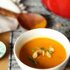Roasted pumpkin and apple soup