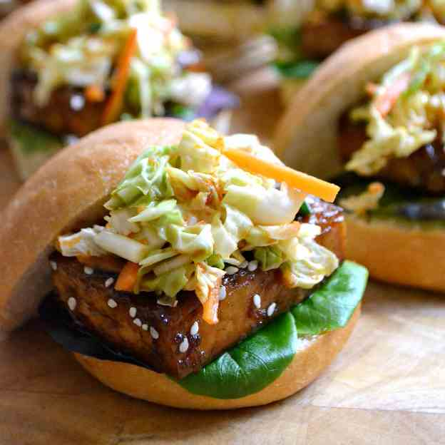 Korean BBQ Tofu Sliders