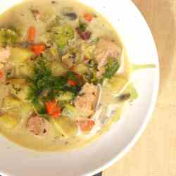 salmon and vegetable chowder