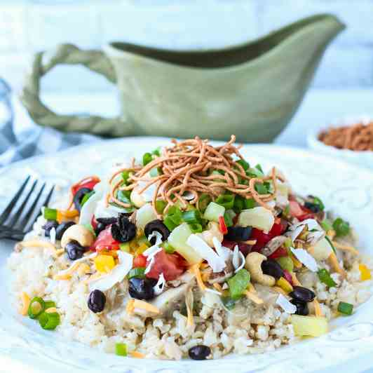 Healthy Hawaiian Haystacks