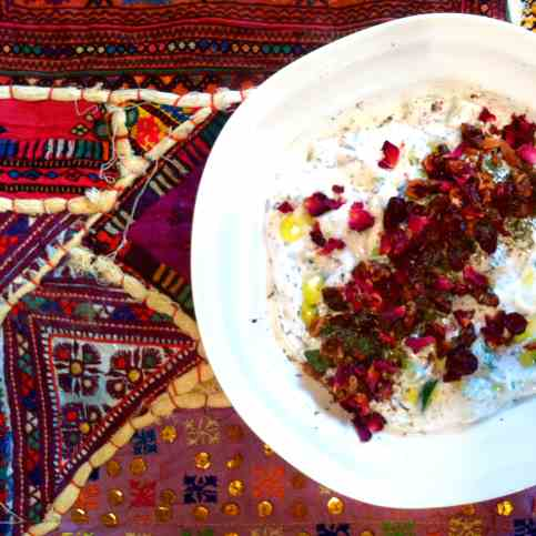 Mast-o-Khiar With Rose, Herbs & Spices