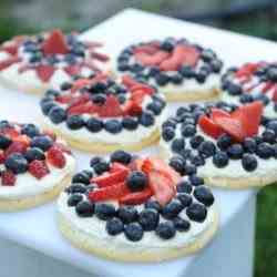 Red White and Blueberry Cookie Tarts