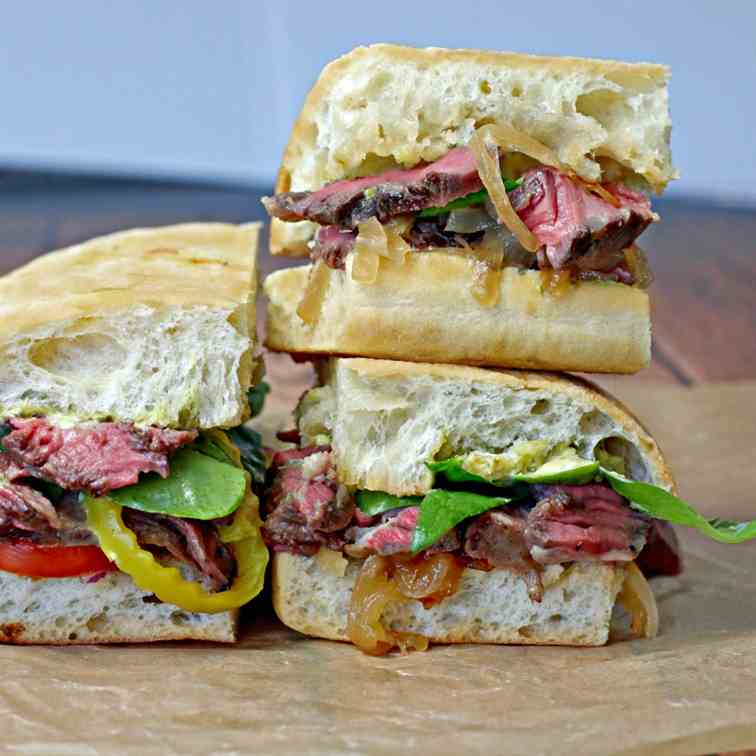 Rustic Ribeye on Ciabatta