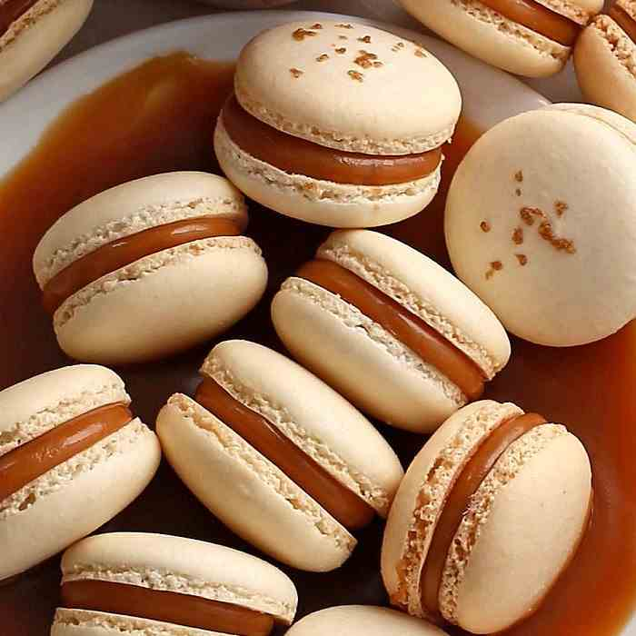 Macarons with Salted Caramel Filling