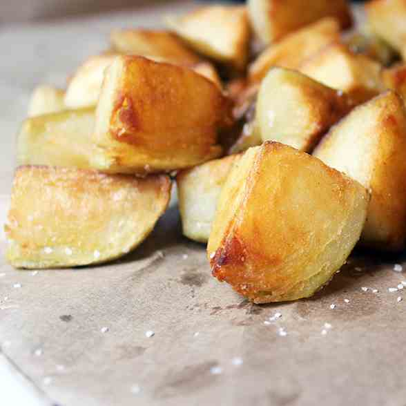 Crispy Pan Fried Salt - Vinegar Potatoes