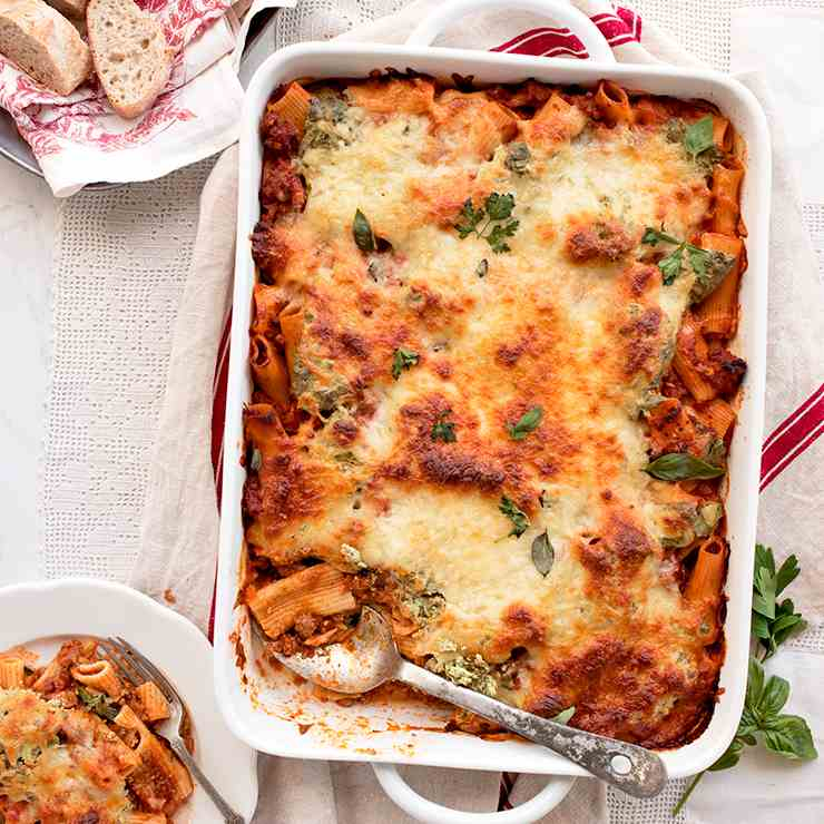 Baked Rigatoni with Herbed Ricotta