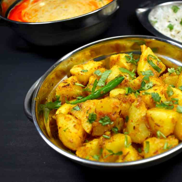 Jeera Aloo - How to Make Jeera Aloo Fry