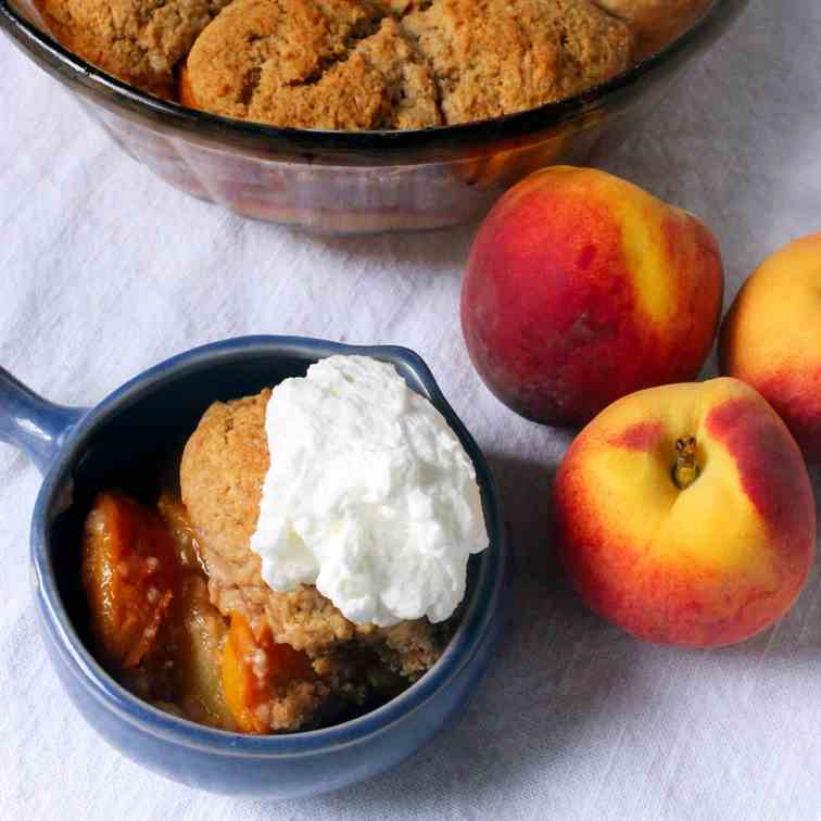 Peach and Ginger Cobbler