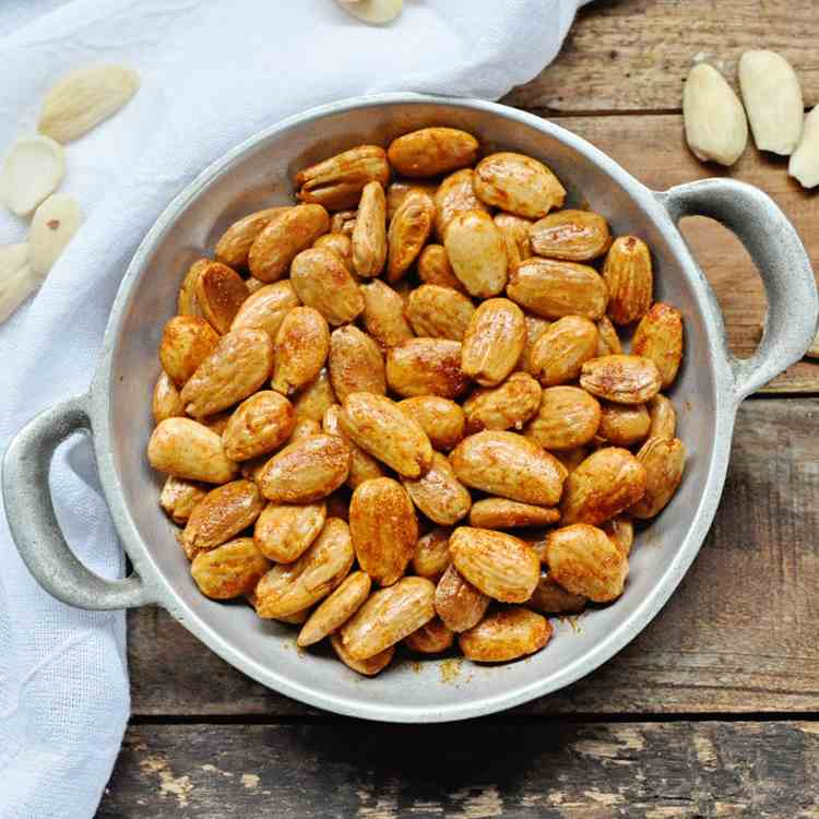 Spicy Pan Fried Spanish Almonds