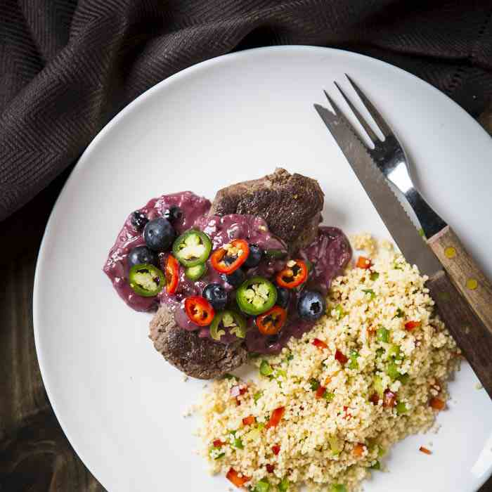 Ostrich Fillet with Blueberry Sauce Recipe