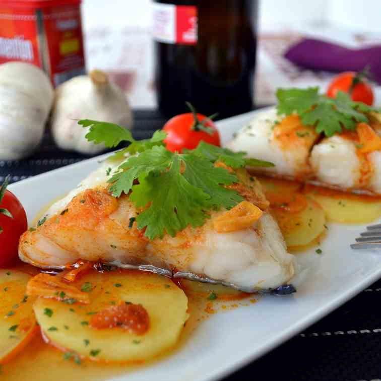 Cod fish recipe with Spanish paprika