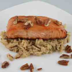 Honey and Pecan Glazed Salmon