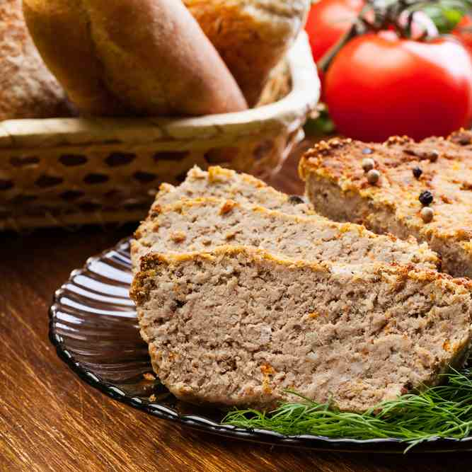 Air Fryer Meatloaf Flavoured With Black Pe