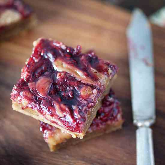 Brown Butter Raspberry Blondies