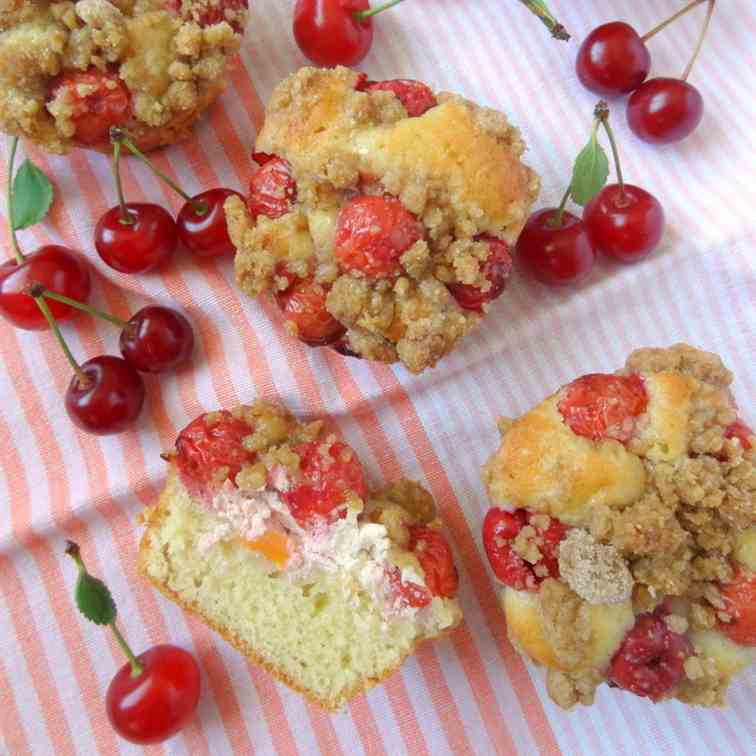 tart cherry cream cheese muffins