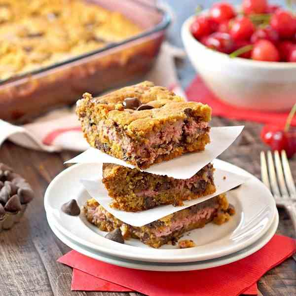 Cherry Cheesecake Cookie Bars
