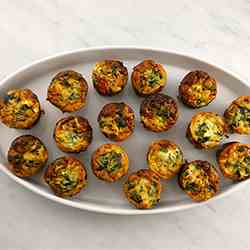 Spinach & Goat Cheese Mini Quiche