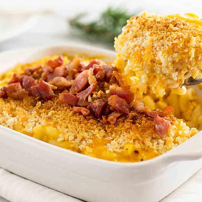 Bacon Butternut Squash Mac and Cheese