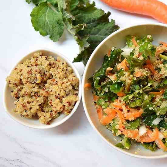 Kale Quinoa And Carrot Salad