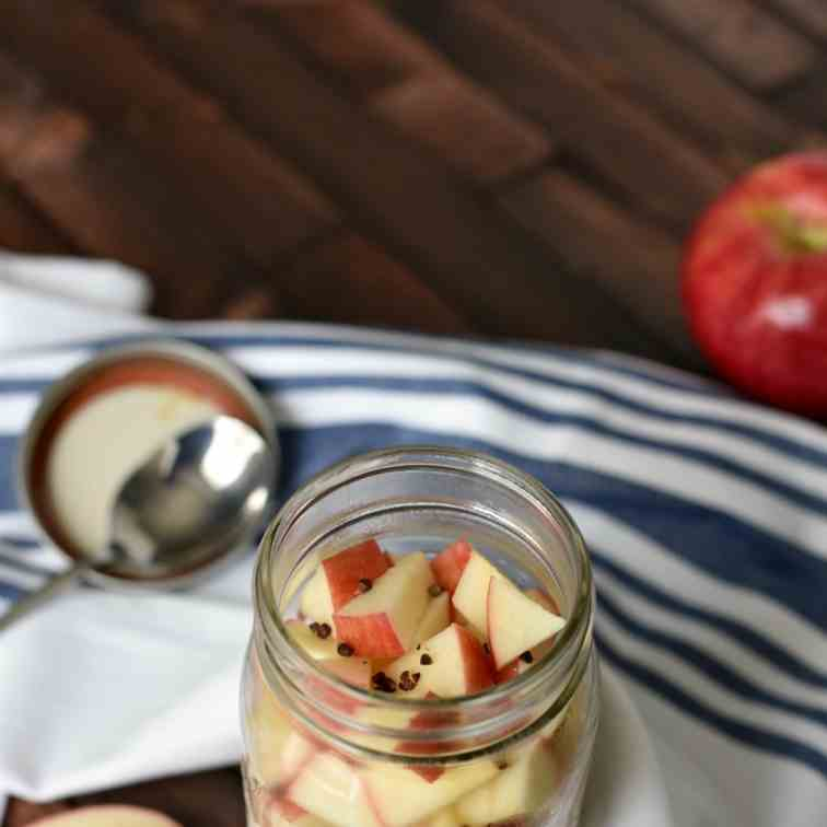 Apple Pie Overnight Oats with Grains of Pa