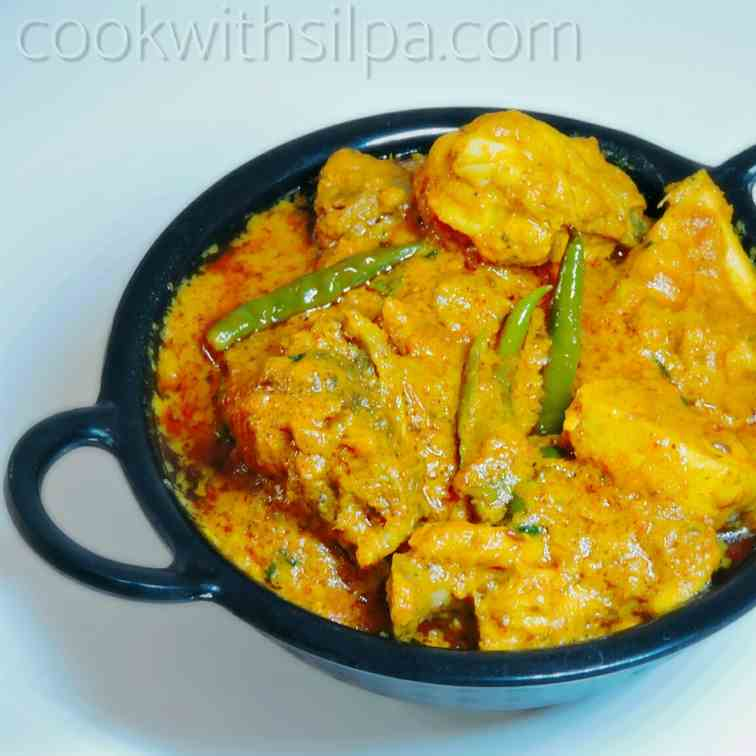 Chicken handi with malai recipe