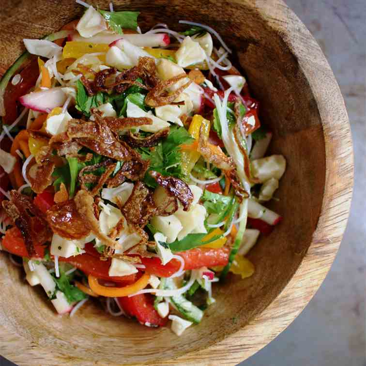 Vermicelli Salad with Lime-Garlic Dressing