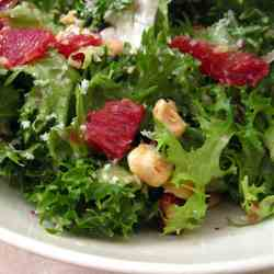 Blood Orange, Escarole and Hazelnut Salad