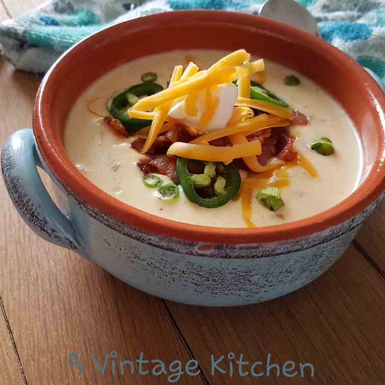 Jalapeno Popper Loaded Potato Soup