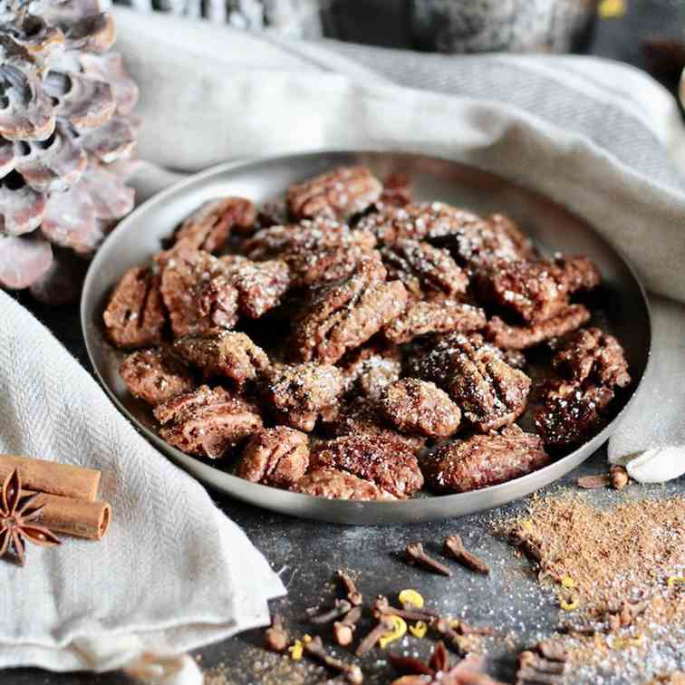 Spiced Christmas Pecans