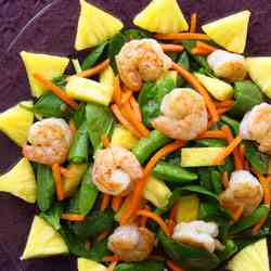 Sunny Shrimp and Spinach Salad