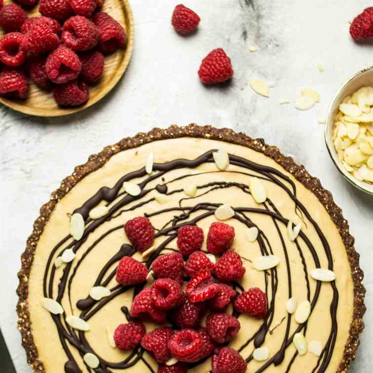 Vegan peanut butter mousse and jelly tart