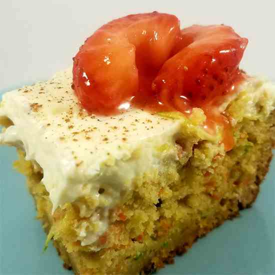Carrot Zucchini Bars with Citrus Cream Che