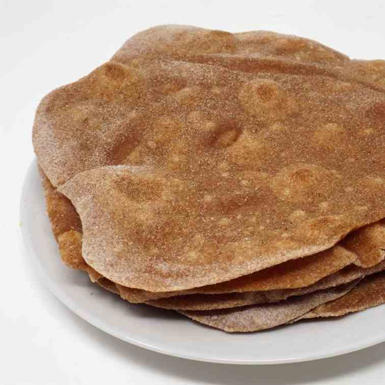 Chapati (Indian Roti Flatbread)