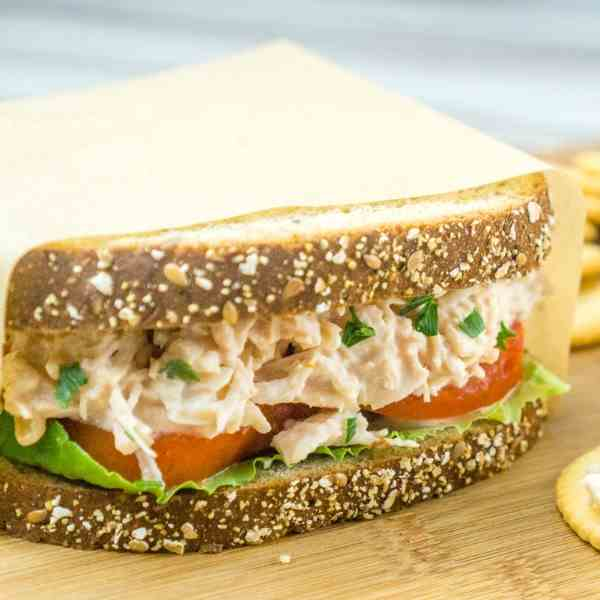 3-Ingredient Chicken Salad Sandwich