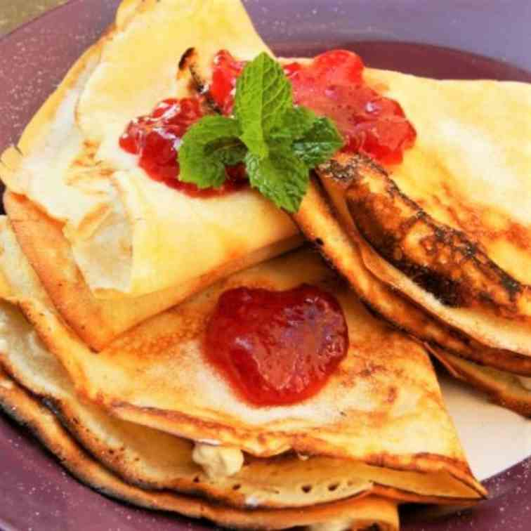 Cream Cheese Filling Crepes Recipe