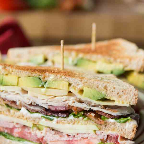 the best triple decker club sandwich