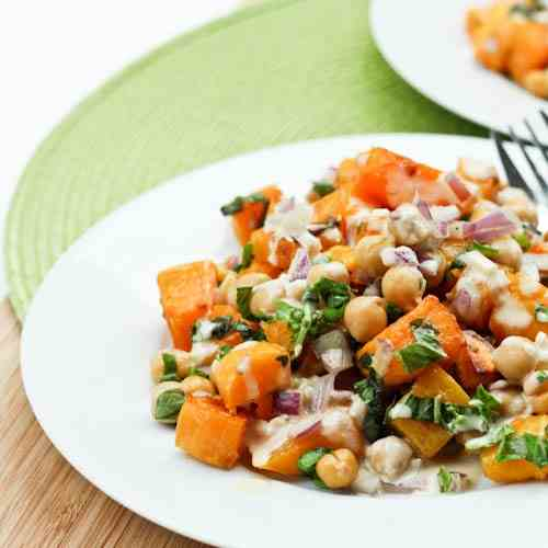 Roasted Butternut Squash and Chickpea Sala
