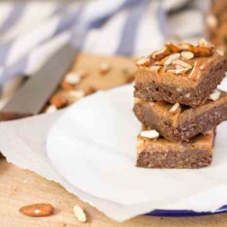 Raw salted caramel brownies
