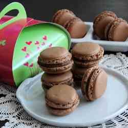 Chocolate Chantilly Macarons