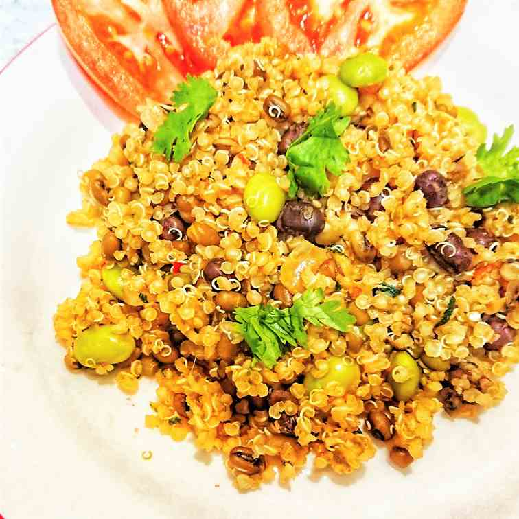 3 Bean spicy quinoa