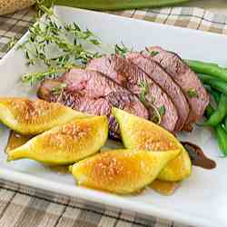 Four spices duck breasts with figs