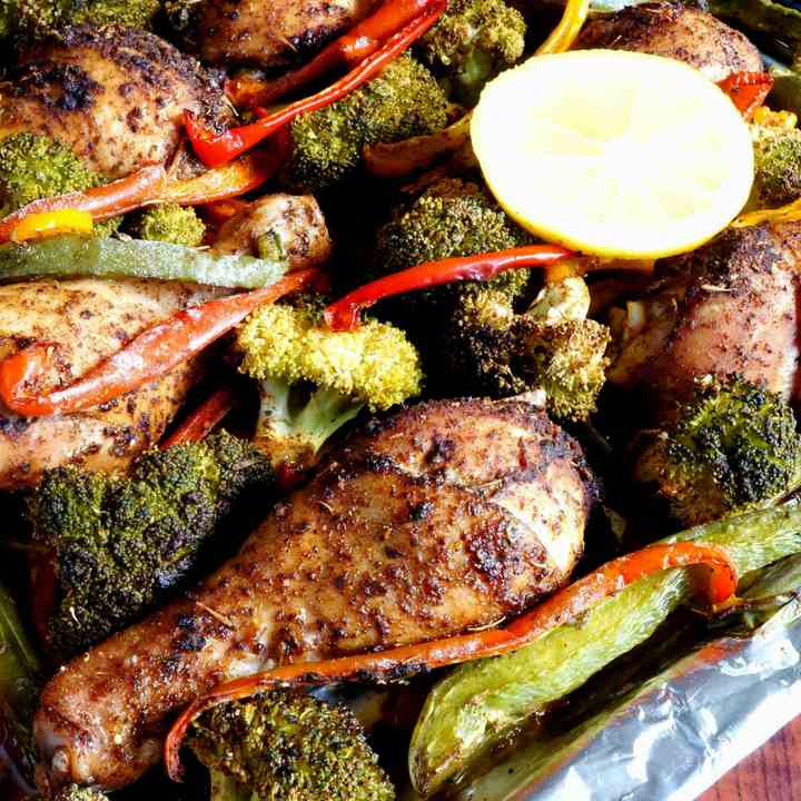 Sheet Pan Chicken And Vegetables