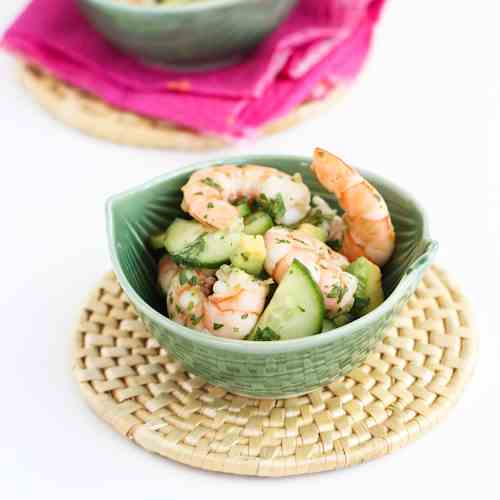 10-Minute Thai Shrimp & Avocado Salad