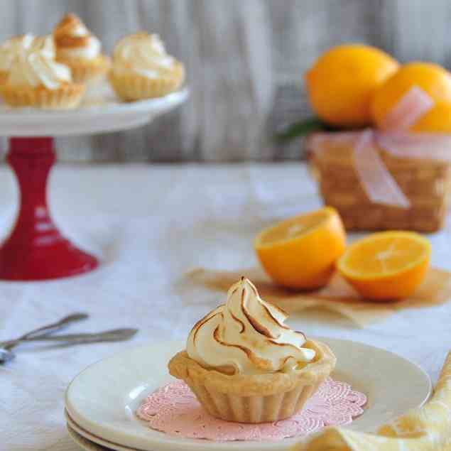 Meyer Lemon Meringue Tartlets