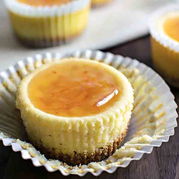 Orange Ricotta Cheesecake Cupcakes