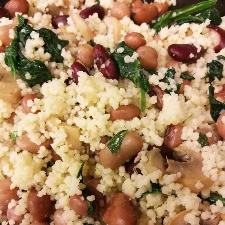 Six Bean Couscous Salad