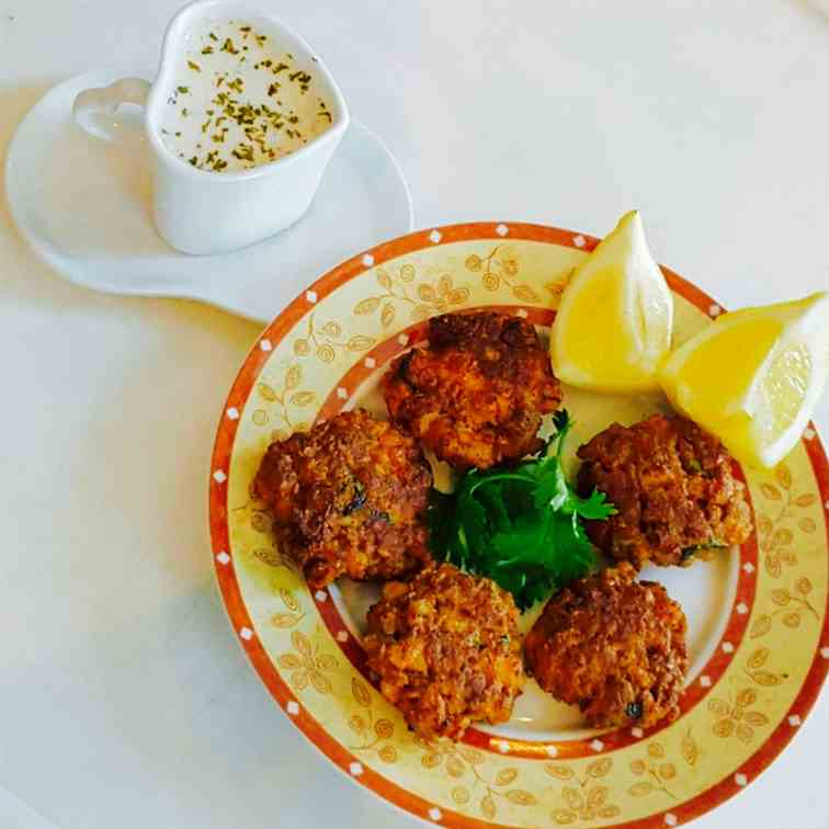 Fish cakes with oats